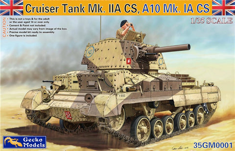 Gecko 1/35 Cruiser A10 Mk IA/IIA CS Tank (New Tool) Kit