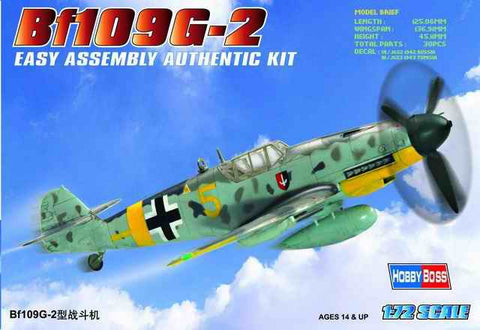 Hobby Boss Aircraft  1/72 Bf-109G-2 Messerschmitt Kit