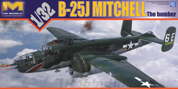 "HK Models 1/32 B-25J ""Glass Nose"" Bomber Kit"