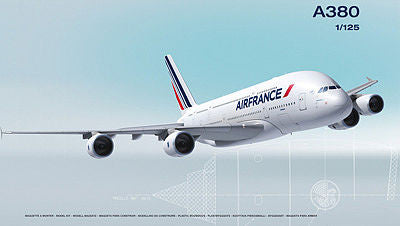 Heller Aircraft 1/125 A380 Air France Commercial Airliner Kit