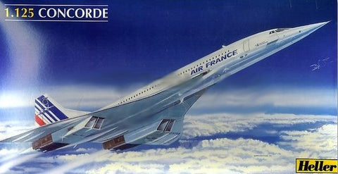 Heller Aircraft 1/125 Concorde Air France Airliner Kit