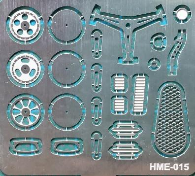 Highlight Model Studio 1/24-1/25 VW Beetle Detail Set 1 for TAM: Steering Wheel Spokes, Door Handles & Gear Shifter