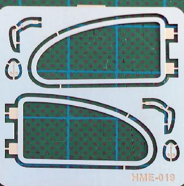 Highlight Model Studio 1/24-1/25 VW Beetle Side Window Frames for TAM