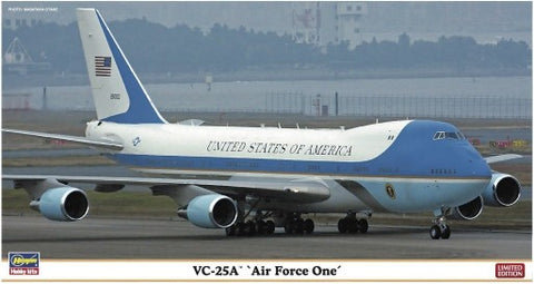 Hasegawa Aircraft 1/200 VC25A Air Force One USAF Presidential Aircraft Ltd Edition (Re-Issue) Kit