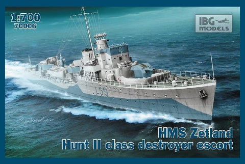 IBG Model Ships 1/700 HMS Zetland 1942 Hunt II Class Destroyer Escort Kit
