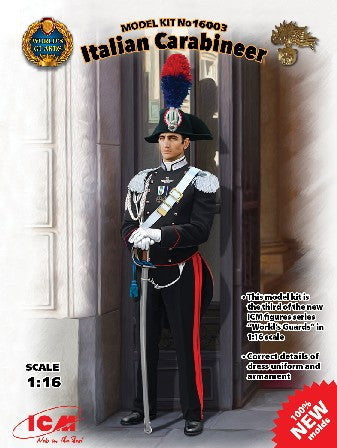 ICM Military 1/16 Italian Carabinier World's Guard (New Tool) Kit