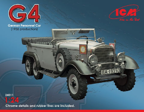 ICM Military 1/24 German G4 1935 Production Personnel Car Kit