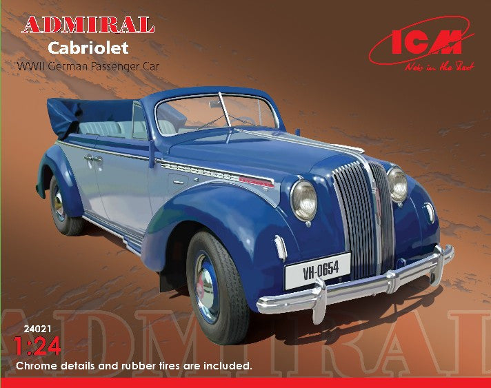 ICM Military 1/24 WWII German Admiral Convertible Passenger Car Kit