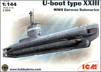 ICM Model Ships 1/144 WWII German U-Boat Type XXIII Submarine Kit