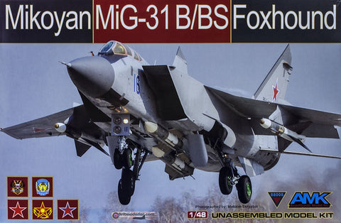 AMK Models Aircraft 1/48 MiG31B/BS Foxhound Fighter Kit
