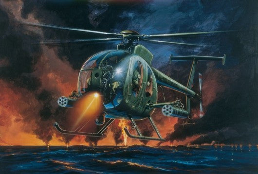 Italeri Aircraft 1/72 AH6 Night Fox Helicopter Kit