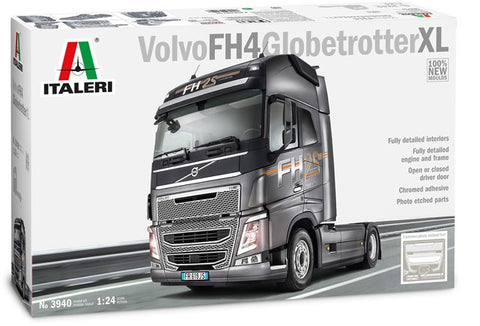 Italeri Model Cars 1/24 2014 Volvo FH4 Globetrotter XL Tractor Cab (New Tool) Kit