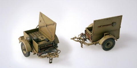 Italeri Military 1/35 German SD Anhanger 51 Military Supply Trailers (2) Kit