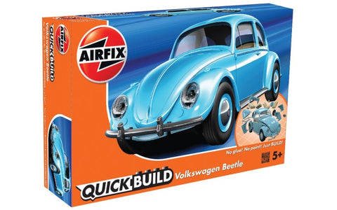 Airfix Car Models Quick Build Classic VW Beetle Car (Snap Kit)