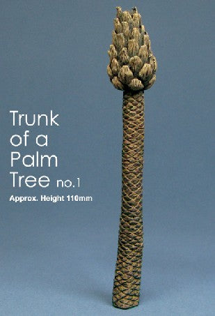 "Js Work 2.8"" Palm Tree Trunk (Unpainted Resin) Kit"