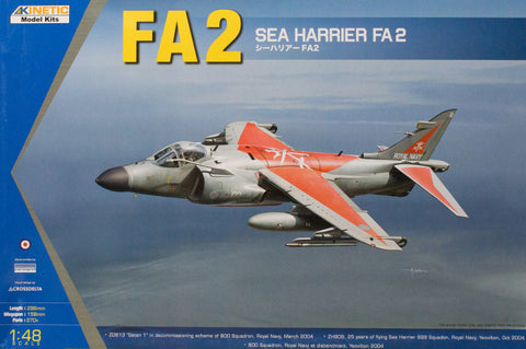 Kinetic Aircraft 1/48 Royal Navy Sea Harrier FA.2 Kit