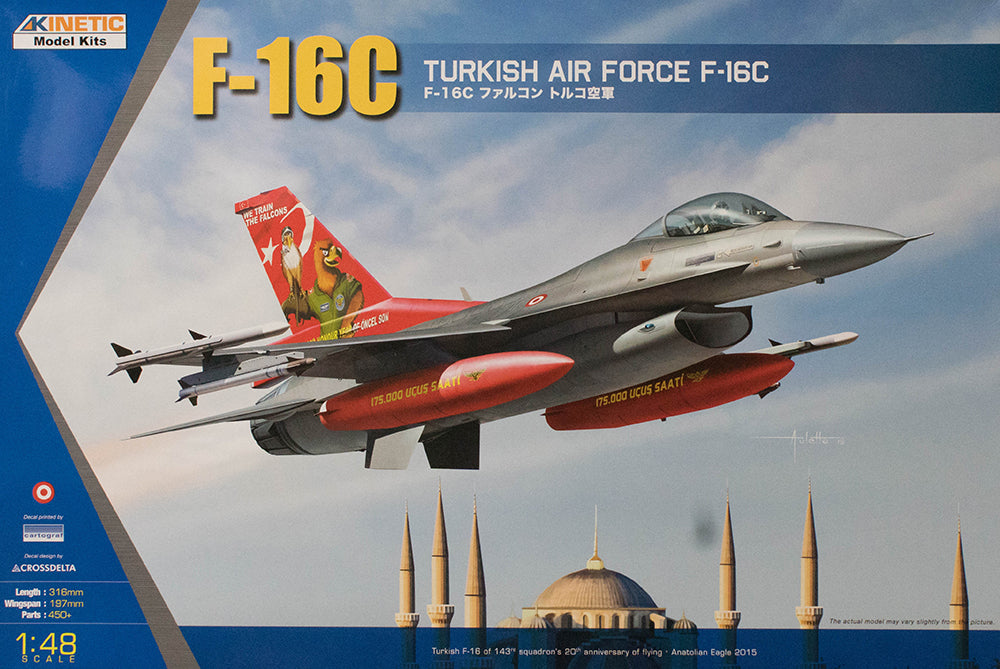 Kinetic Aircraft 1/48 F-16C Fighting Falcon Turkish Air Force Kit