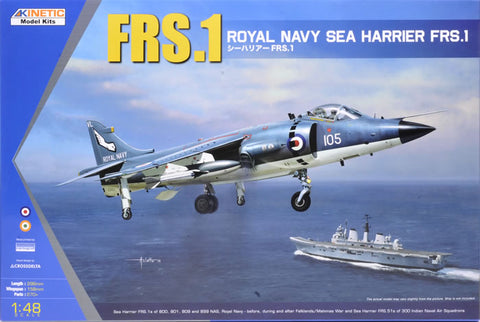 Kinetic Aircraft 1/48 Royal Navy Harrier FRS1 Kit