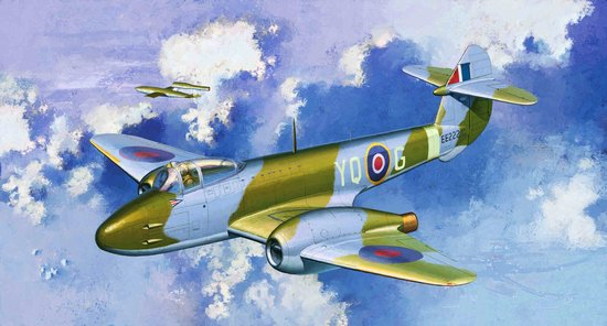 Cyber-Hobby Aircraft 1/72 Gloster Meteor F1 RAF Aircraft Kit