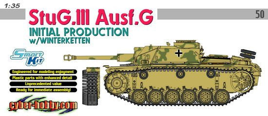 Cyber-Hobby Military 1/35 StuG III Ausf G Initial Tank (Winter-Type Track) Ltd. Edition Kit