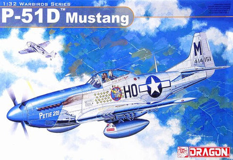 Dragon Models Aircraft 1/32 P51D Mustang Fighter (Re-Issue) Kit