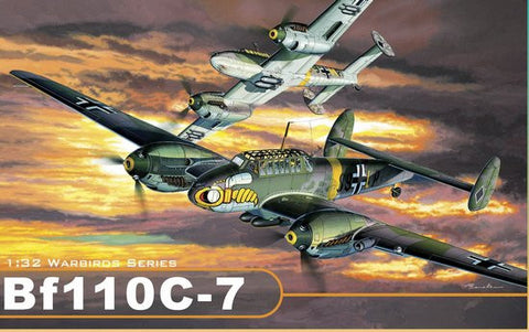 Dragon Models Aircraft 1/32 Bf110C7 Fighter/Bomber Wing Tech (Re-Issue) Kit