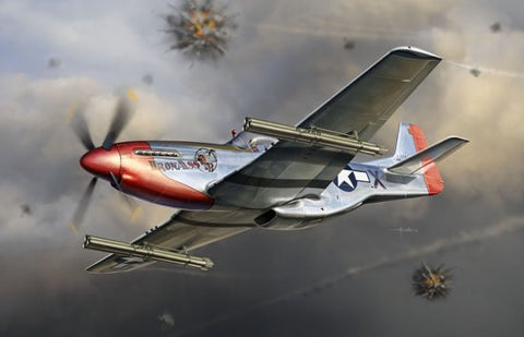 Dragon Models Aircraft 1/32 P51K Mustang Aircraft w/4.5 inch M10 Rocket Launcher Kit