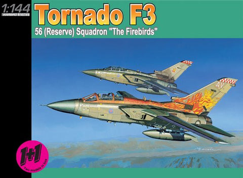Dragon Models Aircraft 1/144 Tornado F3 56 (Reserve) Squadron The Firebirds (2) Kits