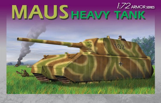 Dragon Military 1/72 German Maus Heavy Tank Kit