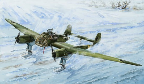 Lion Roar Aircraft 1/48 WWII German Fw189A1 Aircraft w/Skis Kit
