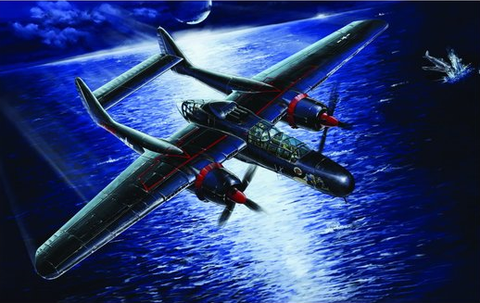 Lion Roar Aircraft 1/48 WWII USAAF P61B Black Widow Aircraft Last Shoot Down 1945 Kit