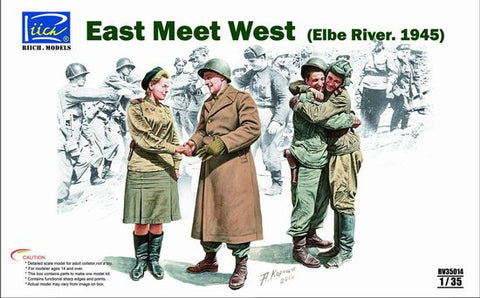 "Riich Military 1/35 ""East Meet West"" Elbe River 1945 (4 Figures Set) Kit"