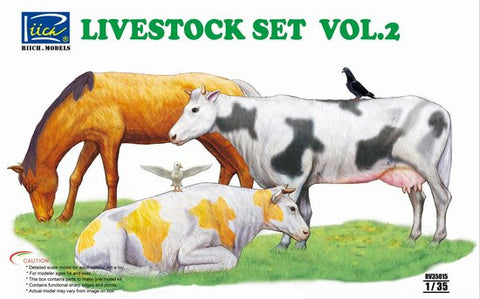 Riich Military 1/35 Livestock Set #2 Kit