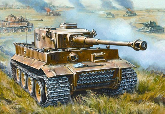 Zvezda Military 1/72 German Tiger I Early Heavy Tank Snap Kit
