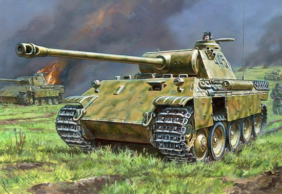 Zvezda Military 1/72 PzKpfw V Panther Ausf D Tank Snap Kit