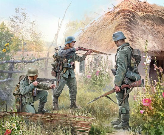 Zvezda Military 1/72 German Infantry 1939-42 (10) Snap Kit