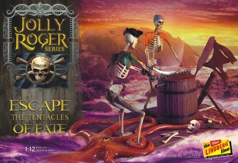 Lindberg Model Ships 1/12 Jolly Roger Escape the Tentacles of Fate Diorama Kit