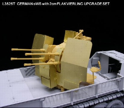 Lion Roar Details 1/35 Upgrade Set for WWII German sWS w/2cm FlaK Gun