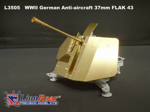 Lion Roar Military 1/35 WWII German 37mm Flak 43 Anti-Aircraft Gun Kit