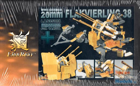 Lion Roar Details 1/35 WWII German 20mm Flak 38 Gun Super Detail Update Conversion Set for TAM
