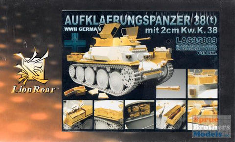 Lion Roar Details 1/35 WWII German Aufkaerungspanzer 38(t) w/2cm KwK 38 Gun Super Detail Update Conversion Set for DML