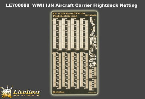 Lion Roar Details 1/700 WWII IJN Aircraft Carrier Flight Deck Netting Detail Set