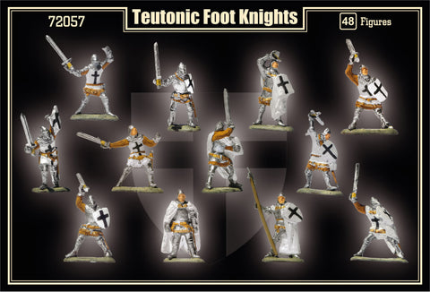 Mars Military 1/72 1st Half XV Century Teutonic Foot Knights (48) Kit