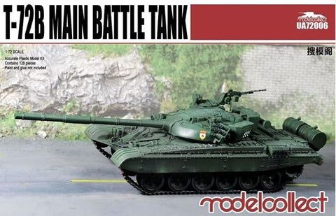 ModelCollect Military 1/72 T72B Main Battle Tank Kit