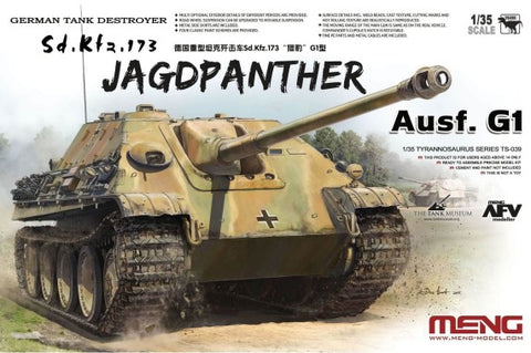 Meng Military Models 1/35 SdKfz 173 Jagdpanther Ausf G1 German Tank Destroyer (New Tool) Kit