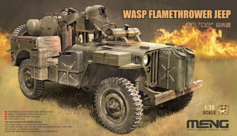 Meng Military 1/35 Wasp Flamethrower Jeep (New Tool) Kit