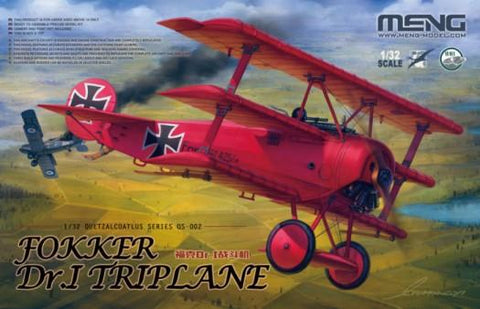 Meng Aircraft 1/32 Fokker Dr I Red Baron Triplane (New Tool) Kit