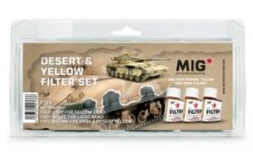 MIG Enamel Desert & Yellow Filter Set