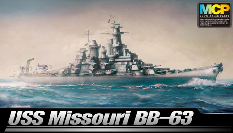 Academy Ships 1/700 USS Missouri BB63 Mighty Mo Battleship (New Tool) Kit