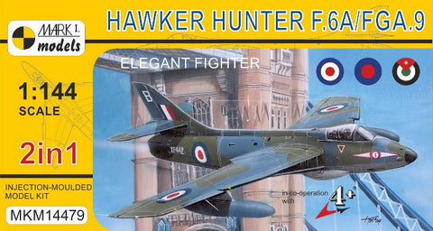 Mark I 1/144 Hawker Hunter F6A/FGA9 Elegant Fighter (2 in 1) Kit